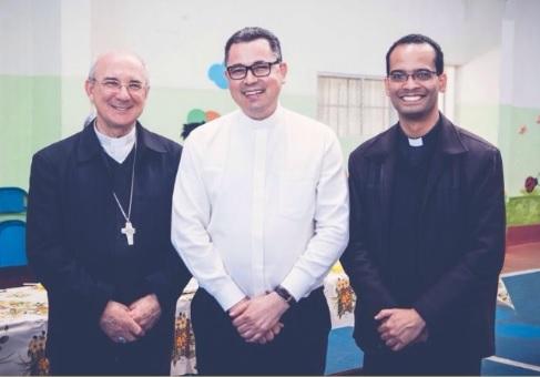 Dom Pedro, Pe. Ademir, Pe. Felipe